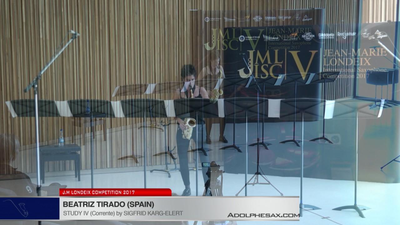 Londeix 2017 - Beatriz Tirado (Spain) - IV Corrente by Sigfrid Karg Elert