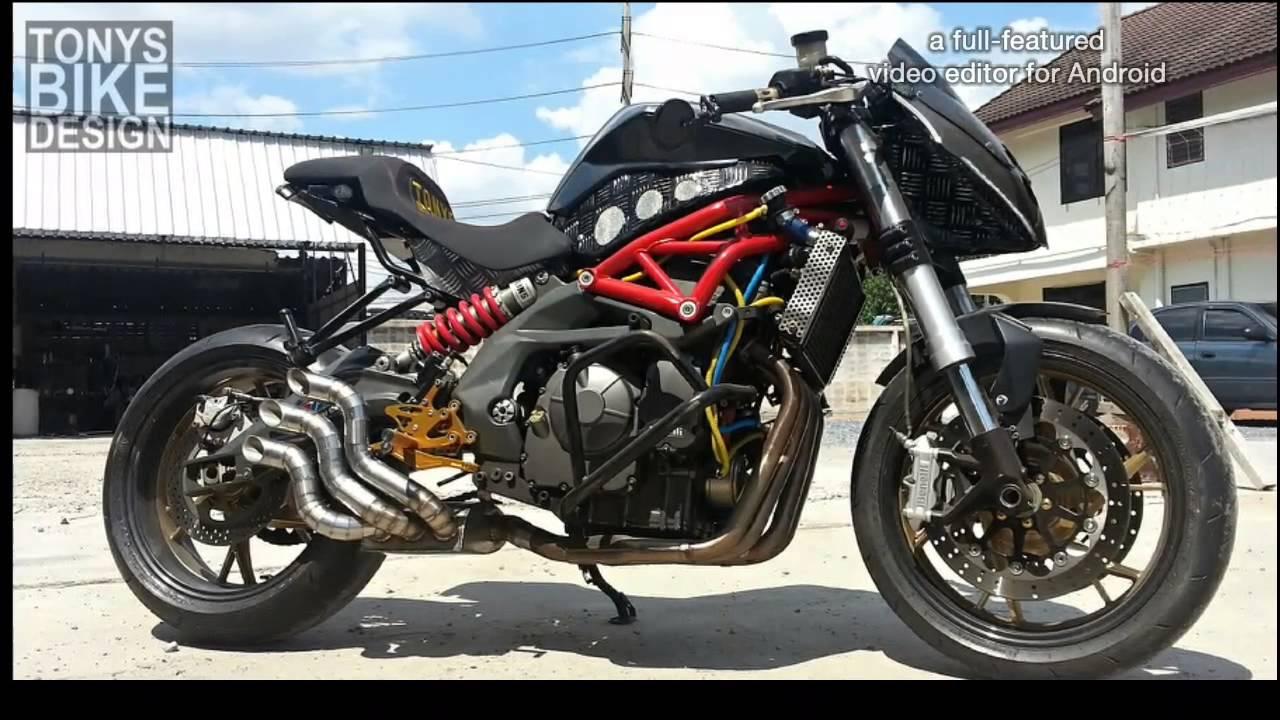 Exhaust Benelli Bn600 Custom By Tonys Bike Design Youtube