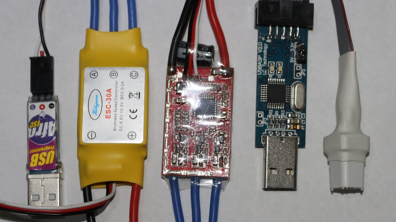 Loading SimonK firmware into hobbypower 30A ESC . - YouTube | Mystery Esc Wiring Diagram |  | YouTube