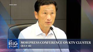 [FULL] Minister Ong Ye Kung on KTV Covid-19 cluster; 41 new links confirmed on July 14