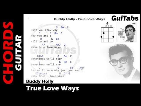Buddy Holly - True Love Ways ( Lyrics and GuiTar Chords ) 🎸