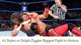 AJ Styles vs  Dolph Ziggler Biggest Fight in History | AJ Styles | Dolph Ziggler | Xilfy Sports