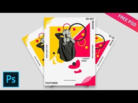 Color Shape Simple Poster ala Zeka Design - Tutorial Photoshop CC 2019 thumbnail