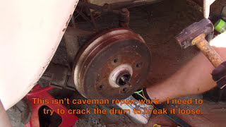 1969 VW Bug Project - Episode 17.5 - Drum Brake and Spindle Removal