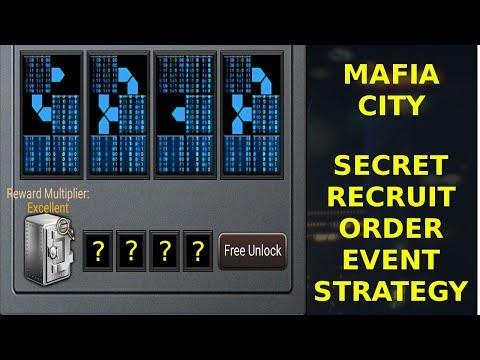 Mafia City - Secret Recruit Order / Safe Cracking Event Strategy