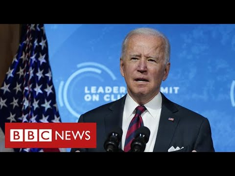 President Biden pledges 50% cut in US carbon emissions at global climate summit - BBC News