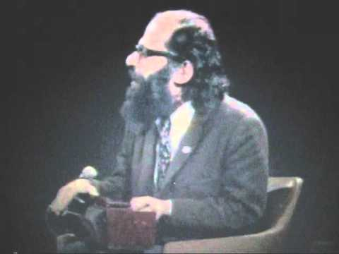 Allen Ginsberg sings Hare Krishna to William Buckley