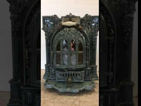 French Antique Wood burner with Bio Ethanol Box