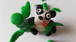 как слепить Панду  из пластилина (Modelling Clay Panda)