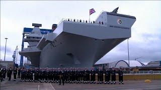クイーン・エリザベス級航空母艦 1番艦 クイーン・エリザベス 命名式