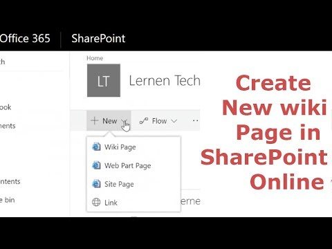 Create New Wiki Page In SharePoint Online