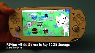 PSVita: All 44 Games on My 32GB Storage