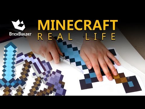 Making Tools For Minecraft Real Life Youtube