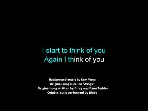 [rewrite] Wings [fan made][lyrics][karaoke][theme: unrequited love]