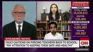 Sal Discusses the Safety of Reopening Schools on the Situation Room With Wolf Blitzer
