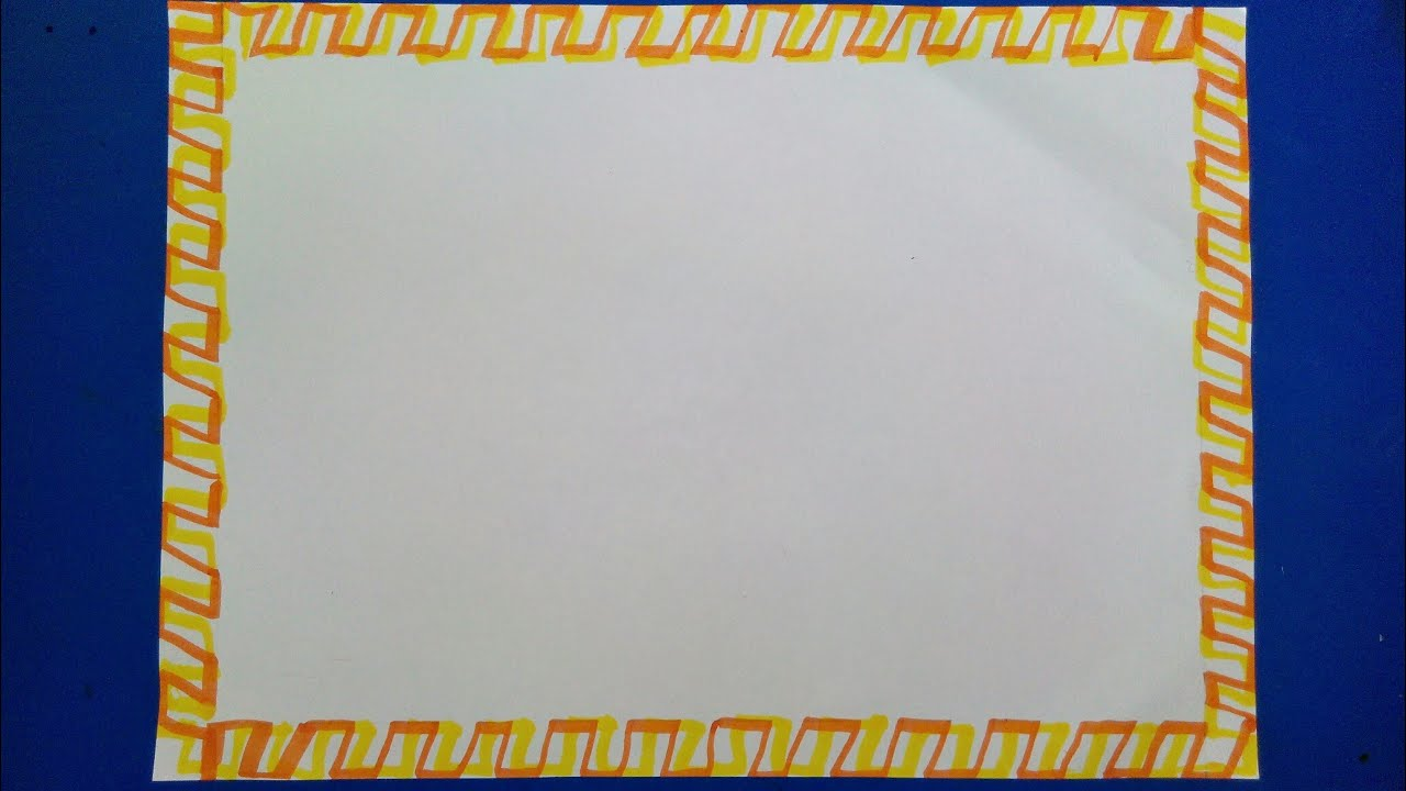simple border designs for school project