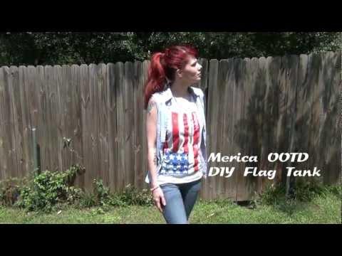 American Flag Shirt DIY & OOTD