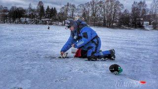 Рыбалка на жерлицы Можайское водохранилище Зимняя рыбалка со льда Ловим щуку плотву и окуня