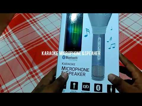 Unboxing of karaoke microphone and speakers