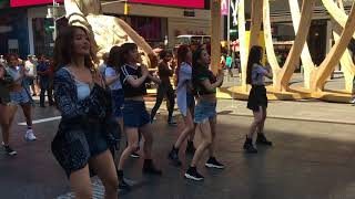 G-IDLE performs LATATA in NY Times Square