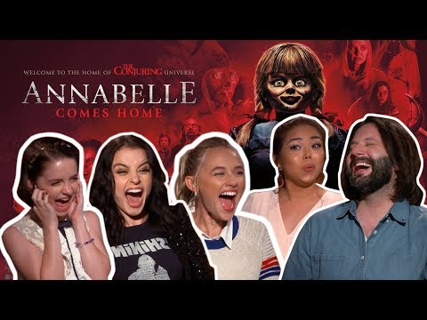 ANNABELLE cast teaches us how to scream! | ANNABELLE COMES HOME
