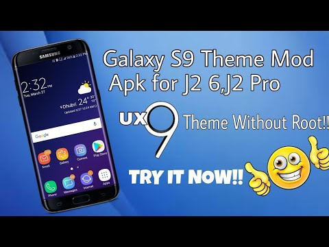 Galaxy S9 Theme Mod Apk Without Root for Galaxy J2 6,J2 Pro😍