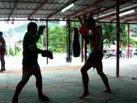 Boxing pads at Jaruad Champion Gym, Phuket