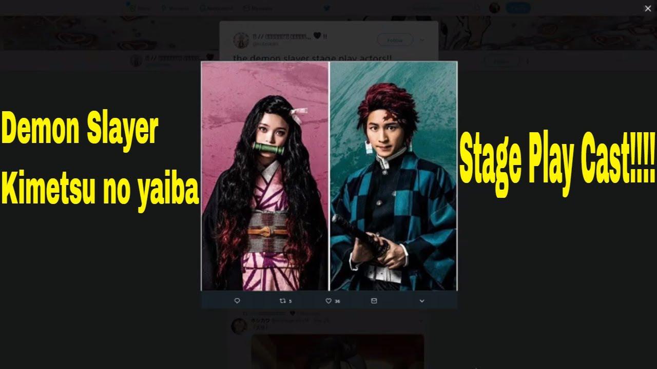 Demon Slayer Kimetsu No Yaiba Stage Play Cast Youtube