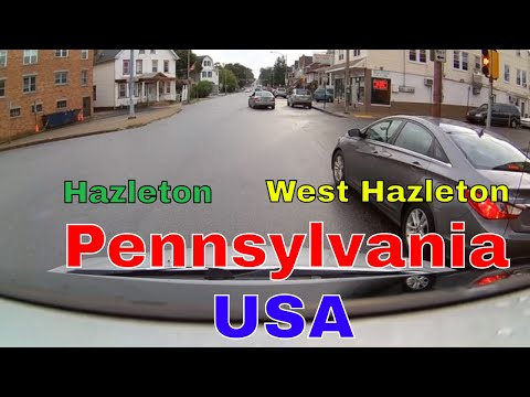 Driving Downtown - Hazleton to West Hazelton - Pennsylvania - USA
