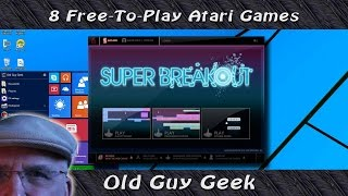 Eight Free-to-Play Classic Video Games from Atari