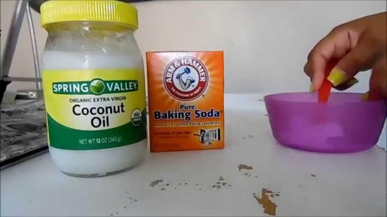 mascarilla para la cara con bicarbonato y aceite de coco