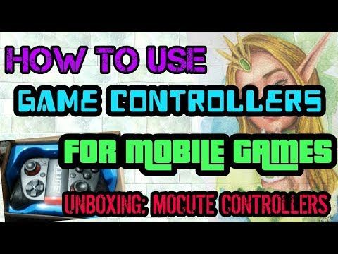 HOW TO USE GAME CONTROLLERS FOR MOBILE GAMES (UNBOXING MOCUTE CONTROLLERS)