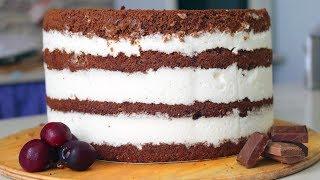 Похрустим? Шоколадный торт с черешней, хрустящей прослойкой и йогуртовым кремом - Я - ТОРТодел!