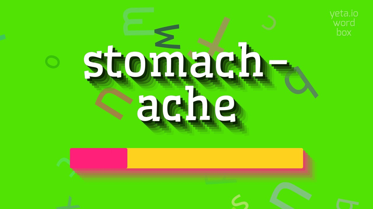 """How to say """"stomach-ache""""! (High Quality Voices)"""