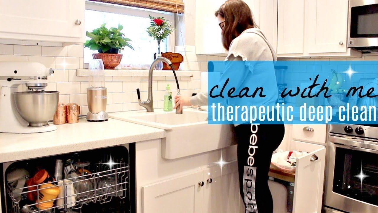 DEEP THERAPEUTIC CLEAN WITH ME 2018 | LIVING ROOM & KITCHEN ...