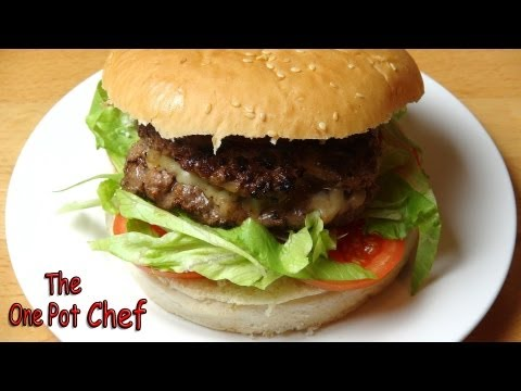 Cheese Stuffed Burgers | One Pot Chef