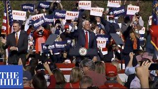 Pence campaigns for David Perdue, <b>Kelly Loeffler</b> in Georgia ...