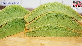 BÁNH BÒ NƯỚNG LÁ DỨA - Honeycomb cake - Tất cả các bí quyết làm Bánh Bò Rể Tre by Vanh Khuyen