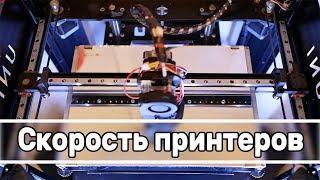 Скорость 3д принтеров