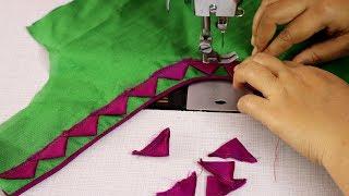 New Silk Saree Blouse Design