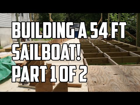 Sail Life - Kamau is building a 54 ft sailboat in his yard, part 1 of 2