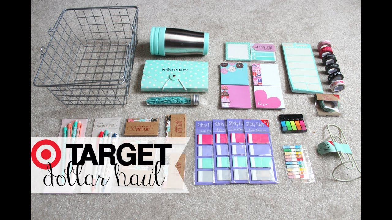 target dollar spot haul  stationery  u0026 planner supplies