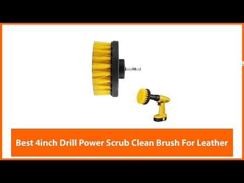 Best 4inch Drill Power Scrub Clean Brush For Leather Plastic Wooden Furniture