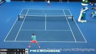 Rafael Nadal vs Alexander Zverev  (Australian Open long Rally)