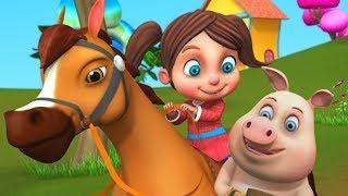 Chal Mere Ghode Chal Tik Tik | Hindi Rhymes | चल मेरे घोड़े टिक टिक | Little Treehouse India