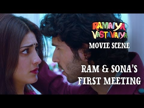 Ram & Sona's First Meeting - Ramaiya Vastavaiya Scene - Girish Kumar & Shruti Haasan Travel Video