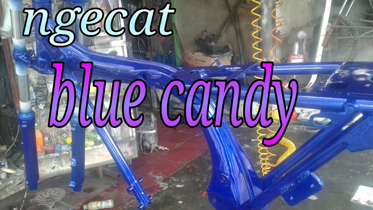 Mengecat biru candy rangka CB YouTube
