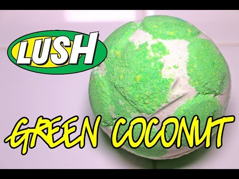 LUSH 🌴 GREEN COCONUT Jelly Bomb 🌴 DEMO & REVIEW Underwater View