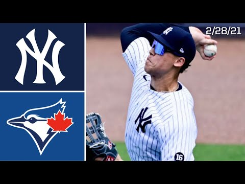 Download New York Yankees Vs. Toronto Blue Jays   Spring Training Highlights   2/28/21