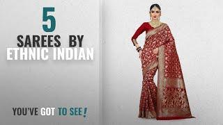 Top 10 Ethnic Indian Sarees 2018 Vatsla Enterprise Women 39 s Cotton Silk Patola Work Bridal Red